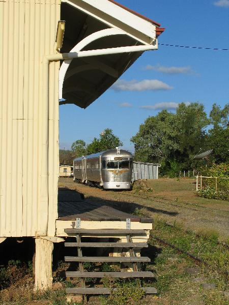 Savannahlander railmotor at Forsayth, Queensland, 30SEP07