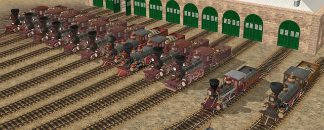 V & T Locomotives in Trainz