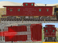 Marker lights test on the AB&A caboose