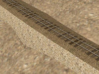 "30"" narrow gauge track w/ attached retaining wall"