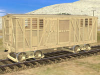Combination box car 1001 (Yellow)