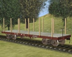 36' turn of the century flatcar
