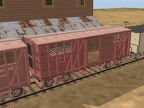 Boxcar with ventilated side door closed